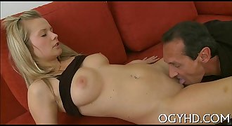 Stunning young chick rides old rod