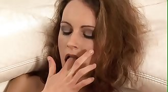 Petite milf stretches her humid pussy and asshole