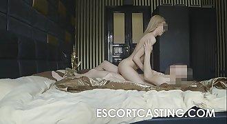 Skinny Blonde Teenage Escort Anal Casting